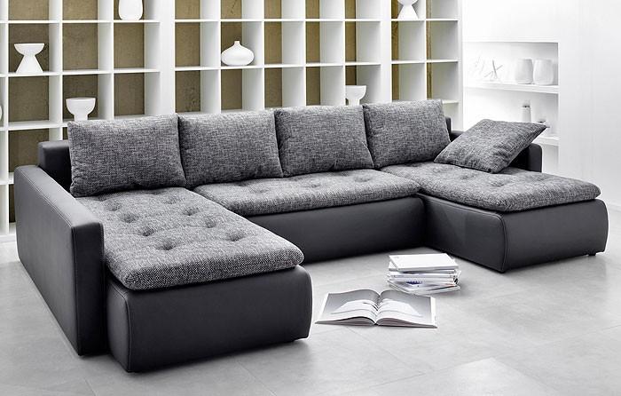 Polsterecke Chioma 324x201 169cm Anthrazit Schwarz Couch Sofa